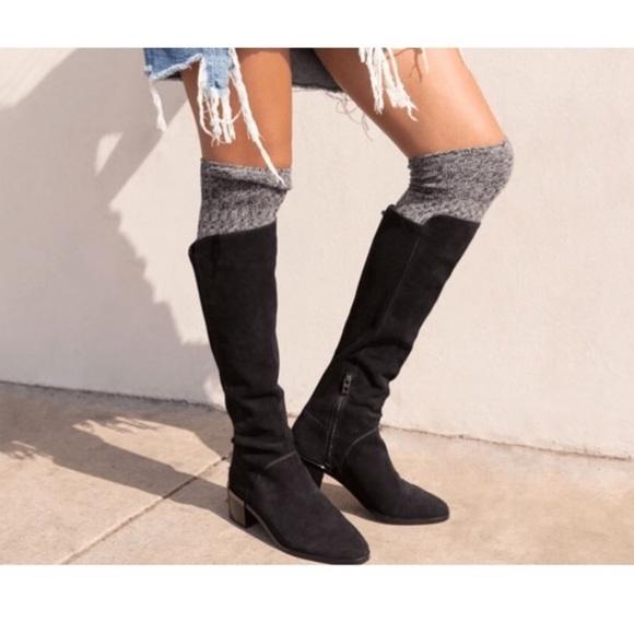 759527289 Richer Poorer over the knee textured socks